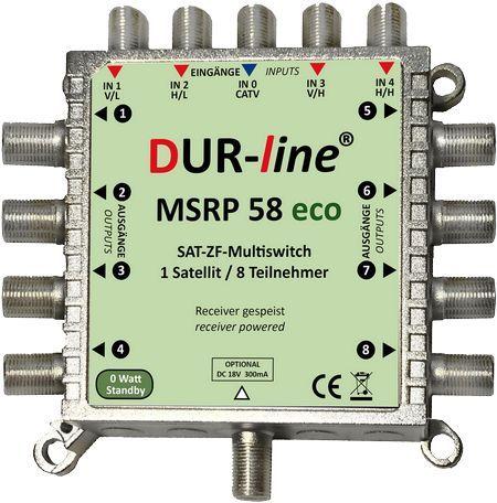 Multischalter f/ür 16 Teilnehmer 0 Watt Standby Multiswitch Geringe Stromaufnahme DUR-line MSRP 5//16 eco Digital, HDTV, FullHD, 4K, UHD