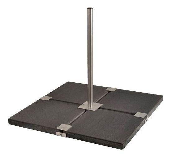 sat standfu flachdachst nder balkonst nder h 85 cm 48 mm f r 4 betonplatten 50 cm. Black Bedroom Furniture Sets. Home Design Ideas