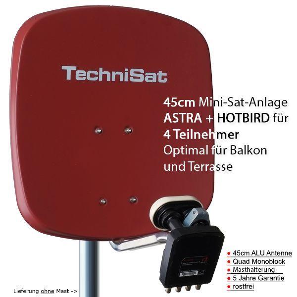 technisat digidish 45r mbq sat anlage komplett astra hotbird. Black Bedroom Furniture Sets. Home Design Ideas