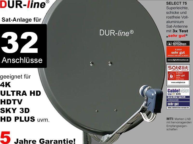 Dur Line Select 75532a Sat Anlage Komplett Fur 32 Teilnehmer