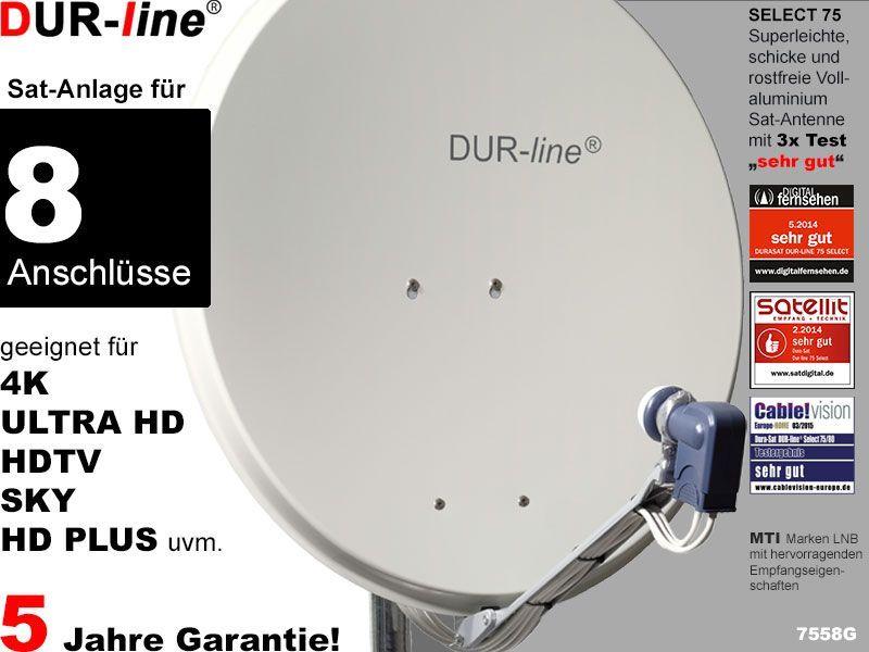 Dur Line Select 7558g Sat Anlage Komplett Fur 8 Teilnehmer