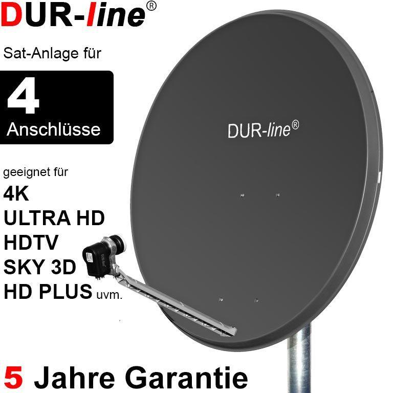 3D 4k UHD neu Digidish45 von TechniSat mit Quad-LNB 4Teilnehmer