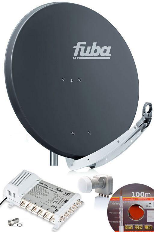 fuba sprofi85 hs06a sat anlage komplett f r 6 teilnehmer. Black Bedroom Furniture Sets. Home Design Ideas