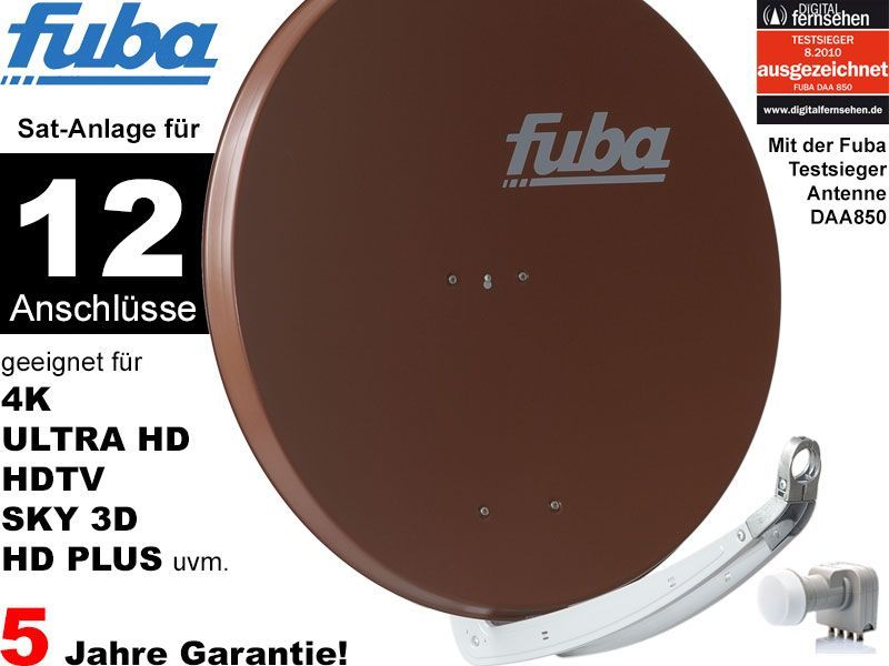 fuba profi85 hd12b sat anlage komplett f r 12 teilnehmer. Black Bedroom Furniture Sets. Home Design Ideas
