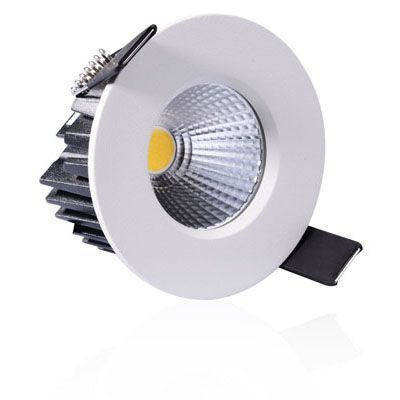 Luxna Lighting Downlight, LED, silber, 650lm, Aluminium