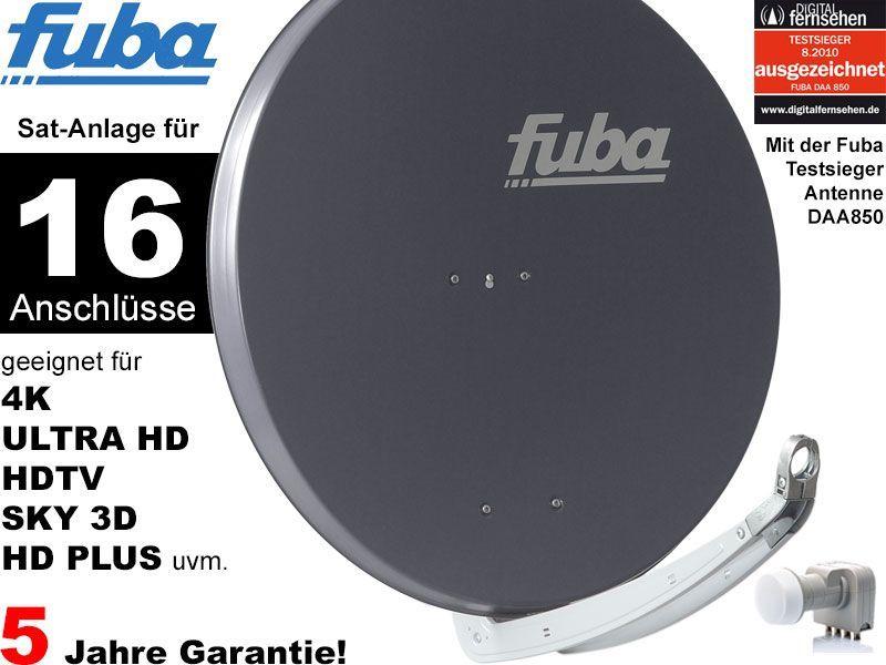 fuba profi85 hd16a sat anlage komplett f r 16 teilnehmer. Black Bedroom Furniture Sets. Home Design Ideas