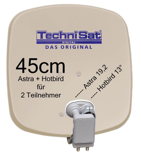 technisat digidish 45b mbt sat anlage komplett astra hotbird. Black Bedroom Furniture Sets. Home Design Ideas