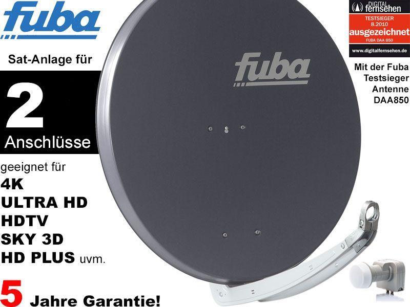 fuba profi85 dek206a sat anlage komplett f r 2 teilnehmer. Black Bedroom Furniture Sets. Home Design Ideas