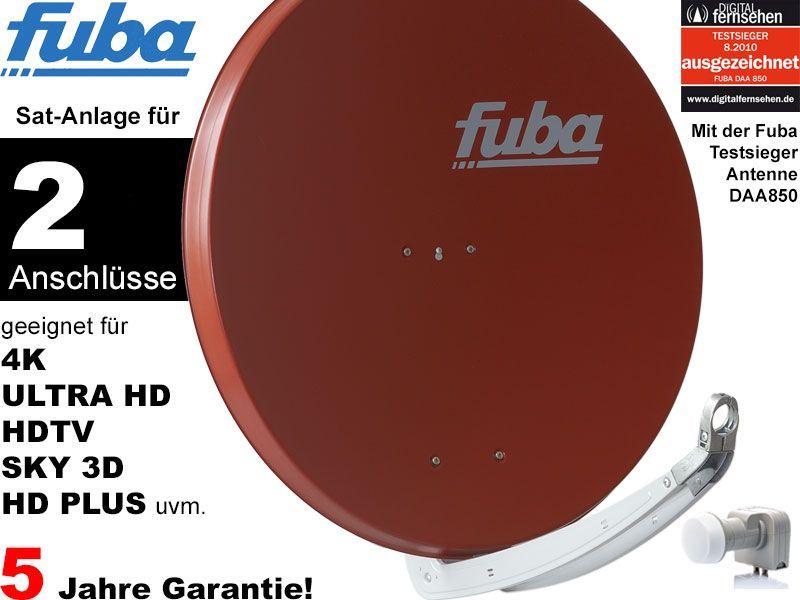 fuba profi85 dek206r sat anlage komplett f r 2 teilnehmer. Black Bedroom Furniture Sets. Home Design Ideas