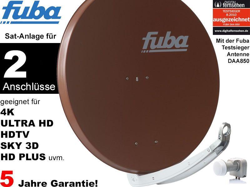 fuba profi85 dek206b sat anlage komplett f r 2 teilnehmer. Black Bedroom Furniture Sets. Home Design Ideas