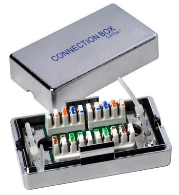 Wentronic 50481 Cat5e Connection Box / Verbinder / Verbindungsbox
