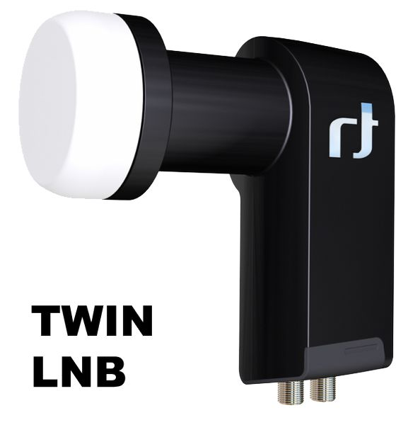 Inverto Black Ultra IDLB-TWNL40-ULTRA-OPP Twin LNB, High Gain 3D & 4K ready, für 2 Teilnehmer