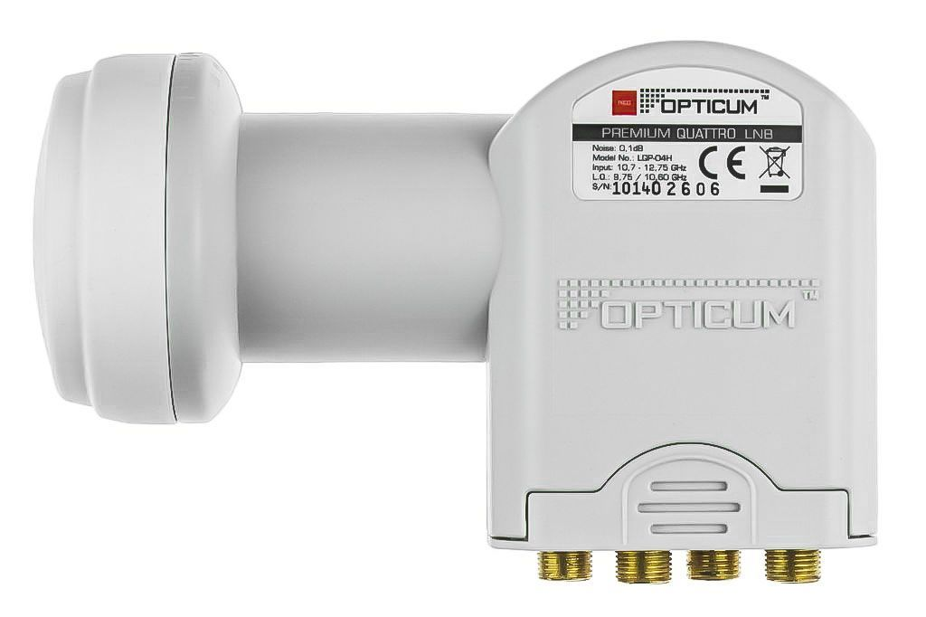 Quattro LNB - Opticum LRP04H 3D & 4K ready für Multischalterbetrieb