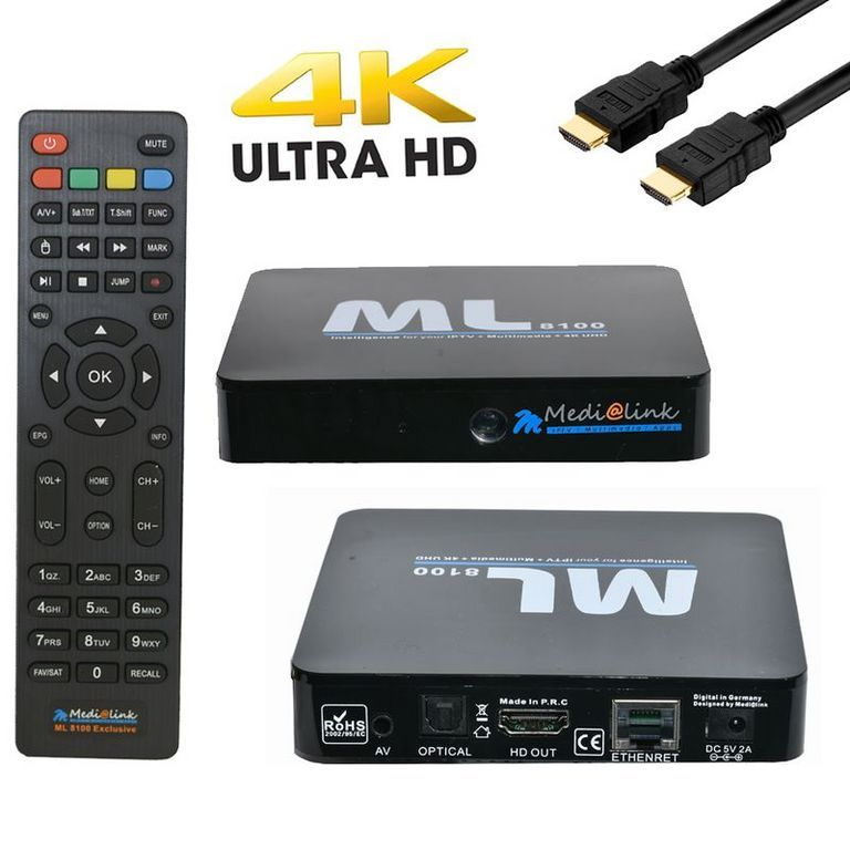Medialink ML8100 HDTV Sat Receiver, Android 7.0.1