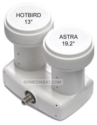maximum xo 61 doppel lnb single monoblock astra hotbird full hd 3d ready 2x sat 1. Black Bedroom Furniture Sets. Home Design Ideas