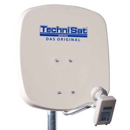 TechniSat DigiDish 45 Sat-Antenne mit Twin-LNB / beige / 1045-2882 / FULL HD / 3D ready