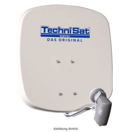TechniSat DigiDish 45 Sat-Antenne mit Quad-LNB Farbe: beige / FULL HD / 3D ready