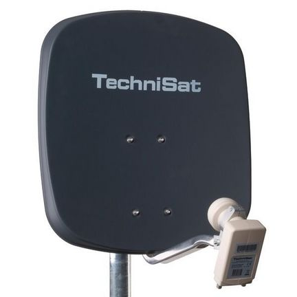 TechniSat DigiDish 45 Sat-Antenne mit Twin-LNB / anthrazit / 1345-2882 / FULL HD / 3D ready