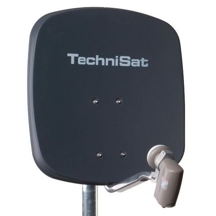 TechniSat DigiDish 45 Sat-Antenne mit Quad-LNB Farbe: anthrazit / FULL HD / 3D ready