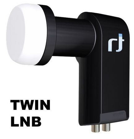 Inverto Black Ultra IDLB-TWNL40-ULTRA-OPP Twin LNB, High Gain, 3D & 4K ready, für 2 Anschlüsse