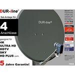 DUR-line Select 7504A Sat-Anlage komplett, für 4Teilnehmer
