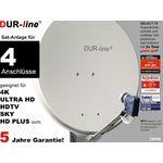 DUR-line Select 7504G Sat-Anlage komplett, für 4Teilnehmer