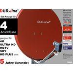DUR-line Select 7504R Sat-Anlage komplett, für 4Teilnehmer