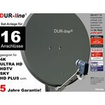 DUR-line Select 75516A Sat-Anlage komplett, für 16Teilnehmer