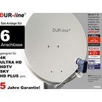 DUR-line Select 7556G Sat-Anlage komplett, für 6Teilnehmer