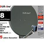 DUR-line Select 7558A Sat-Anlage komplett, für 8Teilnehmer