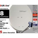 DUR-line Select 7558G Sat-Anlage komplett, für 8Teilnehmer