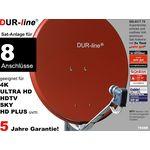 DUR-line Select 7558R Sat-Anlage komplett, für 8Teilnehmer