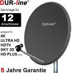 DUR-line Select 90512A Sat-Anlage komplett, für 12Teilnehmer