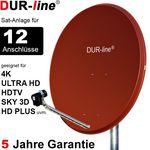 DUR-line Select 90512R Sat-Anlage komplett, für 12Teilnehmer