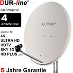 DUR-line Select 9054G Sat-Anlage komplett, für 4Teilnehmer