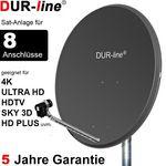 DUR-line Select 9058A Sat-Anlage komplett, für 8Teilnehmer
