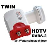 Twin LNB - Bauckhage BW40T 3D & 4K ready für 2Teilnehmer