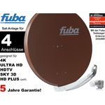 Fuba Profi85 DEK416B Sat-Anlage komplett, für 4Teilnehmer