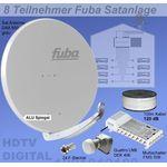 Fuba SProfi85 HS08G Sat-Anlage komplett, für 8Teilnehmer