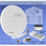 Fuba SProfi85 HS08W Sat-Anlage komplett, für 8Teilnehmer