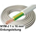 100 Meter - NYM-J Kabel, 1x 16mm², grau