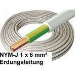 100 Meter - NYM-J Kabel, 1x 6mm², grau