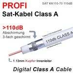 25 Meter - Sat Kabel Profi Digital 110dB ClassA SATKK110-70 mit1.13