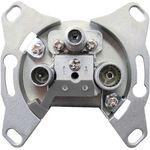 4 Stück - DUR-line 65007 SAT- Antennendose Durchgangsdose geeignet